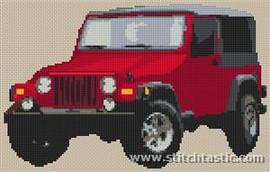 Jeep Wrangler Cross Stitch Chart