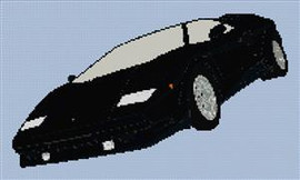 Lamborghini Countach Roadster Cross Stitch Pattern