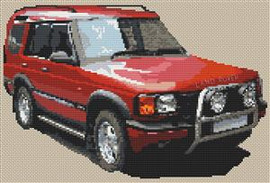 Land Rover Discovery Cross Stitch Chart