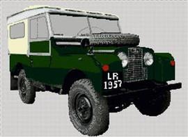 Land Rover Series 1 1957 Cross Stitch Chart