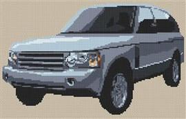 Range Rover Mark 4 Cross Stitch Chart