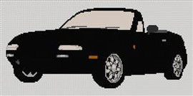 Mazda Mx5 1989 - 1998 Cross Stitch Chart