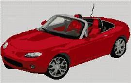 Mazda Mx5 2005 Cross Stitch Chart