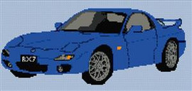Mazda Mx7 Cross Stitch Chart