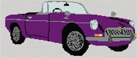 Mgb Roadster Cross Stitch Chart