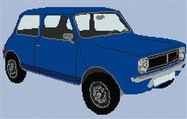 Mini Clubman Cross Stitch Chart
