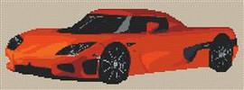 Koenigsegg Ccxr Cross Stitch Chart