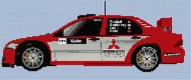 Mitsubishi Evoviii World Rally Car Cross Stitch Chart