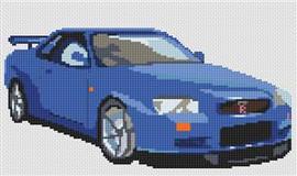 Nissan Skyline Cross Stitch Chart