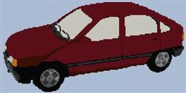 Opel Kadett Cross Stitch Chart