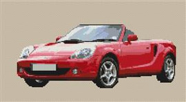 Toyota Mr2 Roadster Cross Stitch Chart