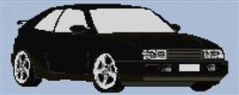 Volkswagen Corrada Cross Stitch Chart