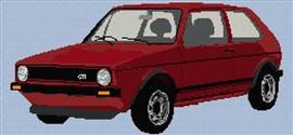 Volkswagen 1980S Golf Gti Cross Stitch Chart