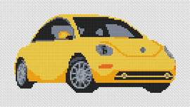 Volkswagen Beetle New Shape Cross Stitch Chart