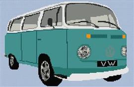 Volkswagen Camper Van Bay Window Cross Stitch Chart