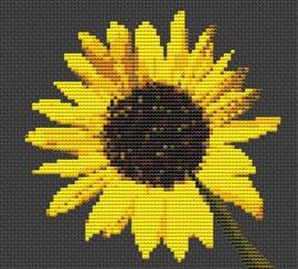 Sunflower Flower Cross Stitch Chart
