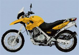 Bmw F650 Dakar Motorcycle Cross Stitch Chart