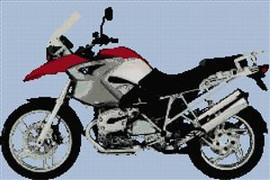 Bmw Gs Motorcycle Cross Stitch Chart