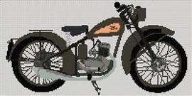 Bsa D1 Bantam 1949 Cross Stitch Chart