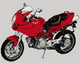 Ducati Multistrada Motorcycle Cross Stitch Chart
