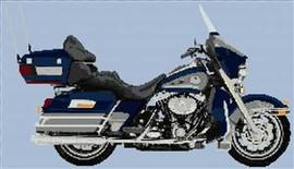 2007 Harley-Davidson Flhtcu Ultra Classic Electra Glide Cross Stitch Chart
