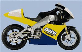 Buell Xbrr 2006 Motorcycle Cross Stitch Chart