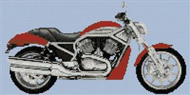 Harley Davidson 2006 Street Rod Cross Stitch Pattern