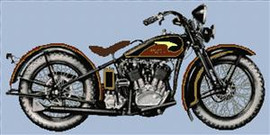 Harley Davidson Circ 1933 Cross Stitch Chart