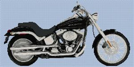 Harley Davidson Deuce Motorcycle Cross Stitch Chart