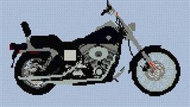 Harley Davidson Dyna Wide Glide Cross Stitch Chart