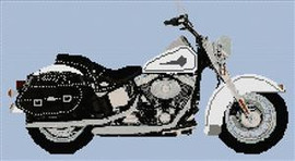 Harley Davidson Heritage Softtail With No Windscreen Cross Stitch Chart