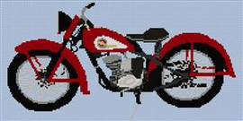 Harley Davidson Hummer Circa 1950 Cross Stitch Chart