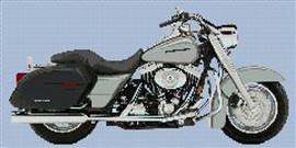 Harley Davidson Platinum Road King Cross Stitch
