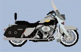 Harley Davidson Road King Classic Cross Stitch Chart