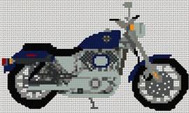 Harley Davidson Sportster Cross Stitch Chart