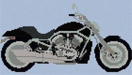 Harley Davidson V Rod Cross Stitch Chart