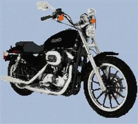 Harley Davidson Xl1200 L Sportster Custom Cross Stitch Chart