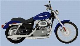 Harley Davidson Xl883 Custom Sportster Cross Stitch Chart