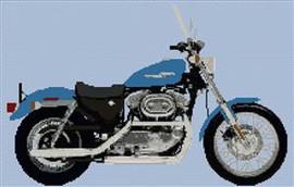 Harley Davidson Xl883 Sportster Cross Stitch Chart