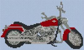 Harley Fat Boy Custom Small Cross Stitch Chart