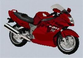 Honda Blackbird Cbr Xx Motorbike Cross Stitch Chart