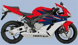 Honda Blackbird Cbr Xx Motorcycle Cross Stitch Chart