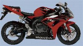Honda Cbr 1000Rr 2006 Motorcycle Cross Stitch Chart