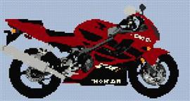 Honda Cbr 600 Motorcycle Cross Stitch Chart