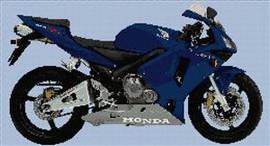 Honda Cbr 600 Rr 2004 Motorcycle Cross Stitch Chart