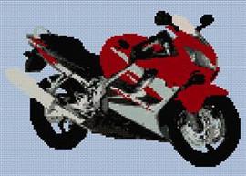 Honda Cbr Motorcycle (Small Design) Cross Stitch Chart