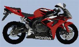 Honda Cbr Rr 1000 2006 Motorcycle Cross Stitch Chart