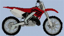 Honda Cr250 Motorcycle Cross Stitch Chart