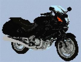Honda Deauville Motorcycle Cross Stitch Chart