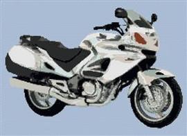 Honda Deauville White Motorcycle Cross Stitch Chart (Large)